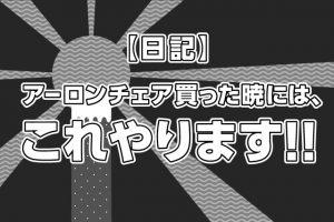 【日記】アーロンチェア買った暁には、これやります!!