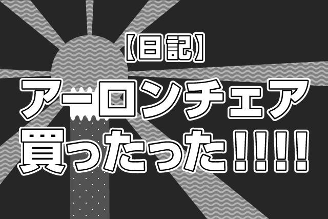 【日記】アーロンチェア買ったった!!!!