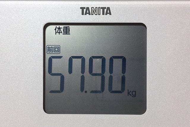 タニタ体重計、体重