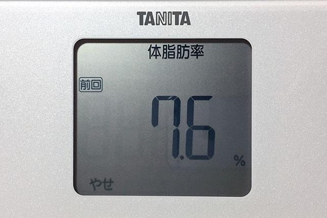 タニタ体重計、体脂肪率