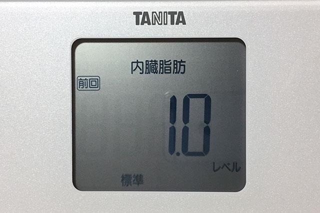 タニタ体重計、内蔵脂肪レベル