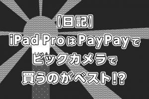 iPad ProはPayPay(ペイペイ)でビックカメラで買うのがベスト!?